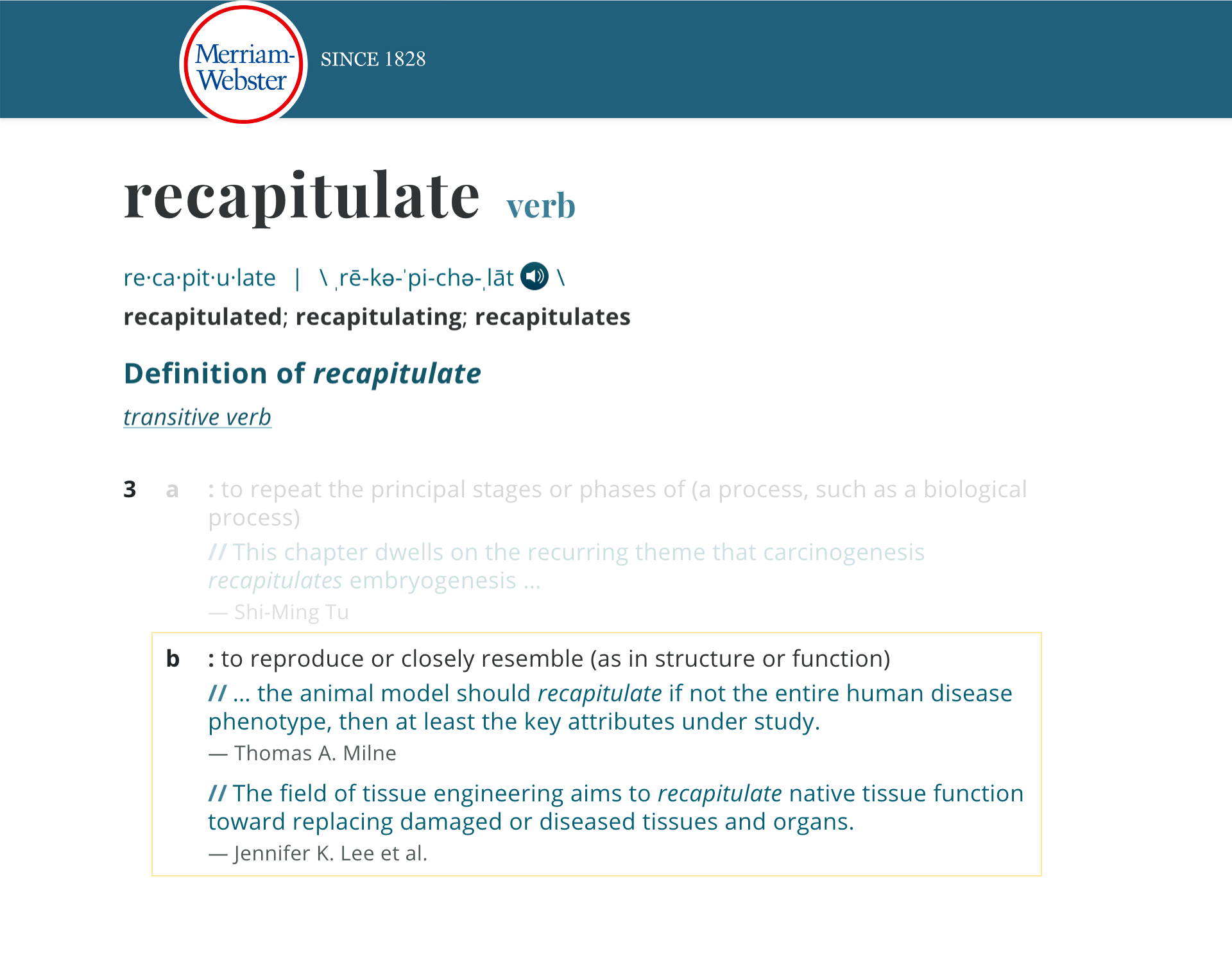 the Motivate - Scar: Recapitulate